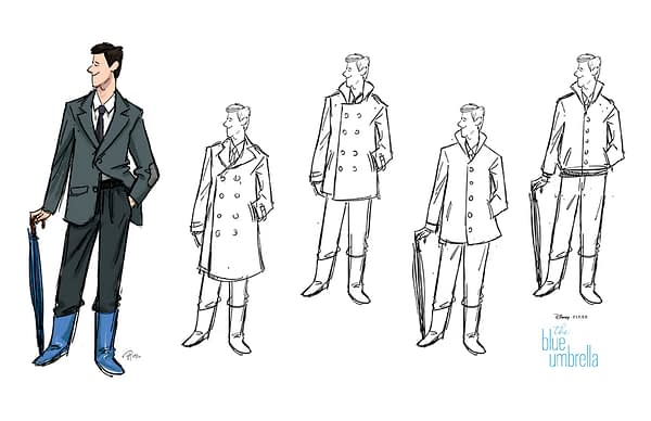 Ultimately only part-used designs for the Blue Umbrella's man