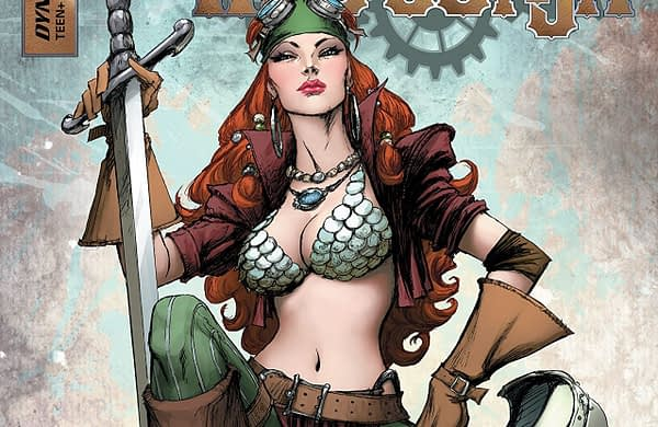 Legenderry Red Sonja #2 cover by Joe Benitez and Beth Sotelo