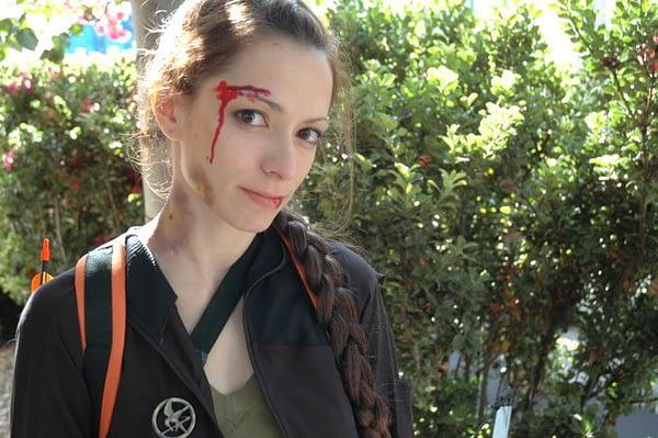 Barbra as Katniss