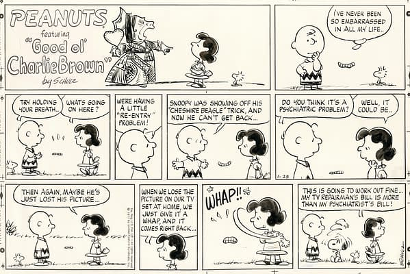 Peanuts Sunday 01-23-1977