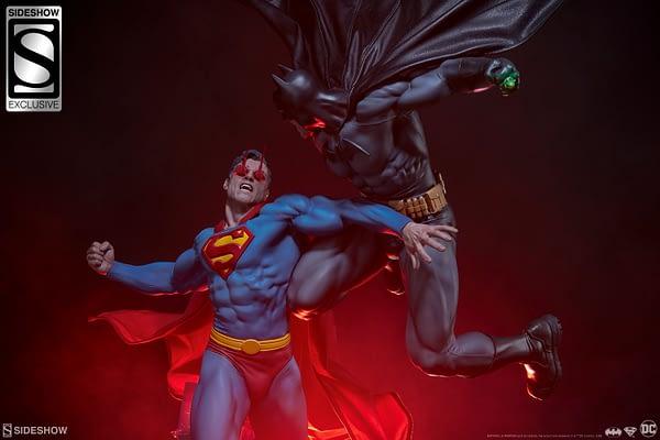 Superman Vs Batman Diorama Statue Sideshow 17