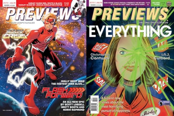 Wally West and Everything on Covers of Next Week's Diamond Previews