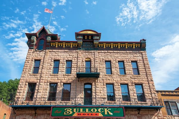 The original Bullock Hotel still stands in modern-day Deadwood. Editorial credit: Jess Kraft / Shutterstock.com
