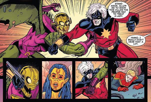 Interior art to Generations: Captain Marvel by Brent Schoonover