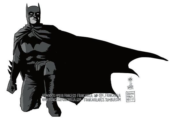 Batman Joins The #TakeTheKnee Protest Thanks To Francesco Francavilla