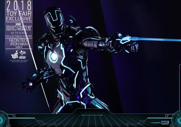 Hot Toys Neon Armor Tech Iron Man 6