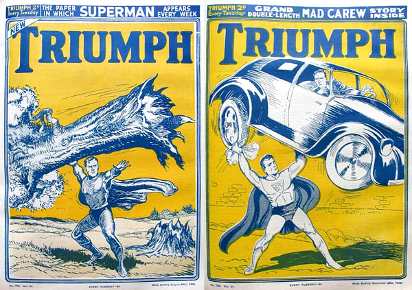 Triumph issues featuring Superman published by Amalgamated