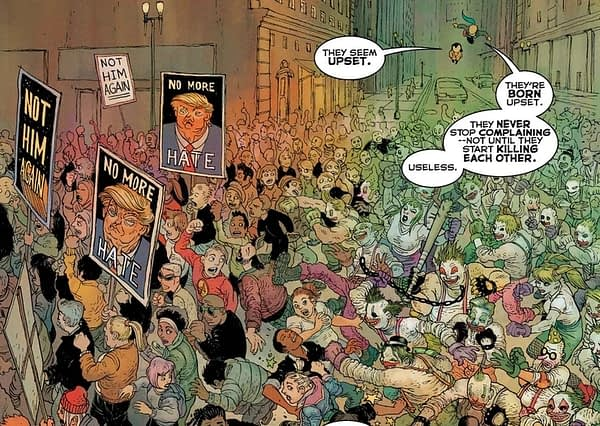 Frank Miller and Rafael Grampa Show President Donald Trump's 2020 Re-election Campaign in Batman: Dark Knight: The Golden Child