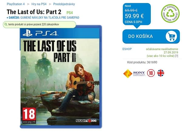 Did A Slovakia Retailer Leak The Last Of Us Part II's Release Date?