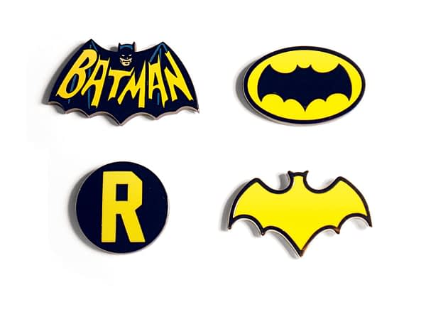 Batman The Classic TV Series Lapel Pins SDCC Exclusive