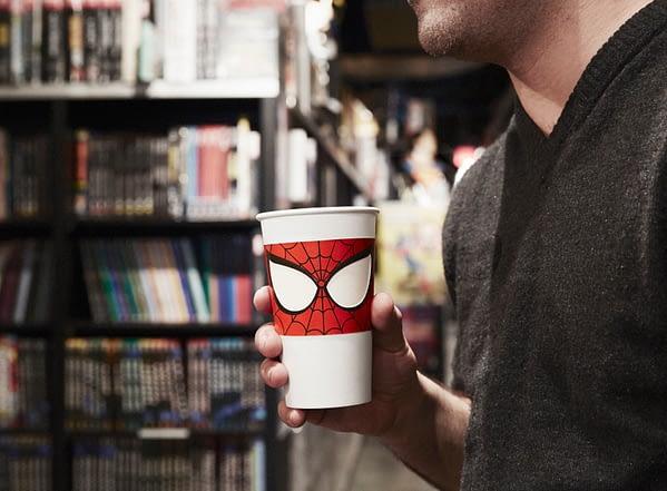 Press Photo Spiderman Cup