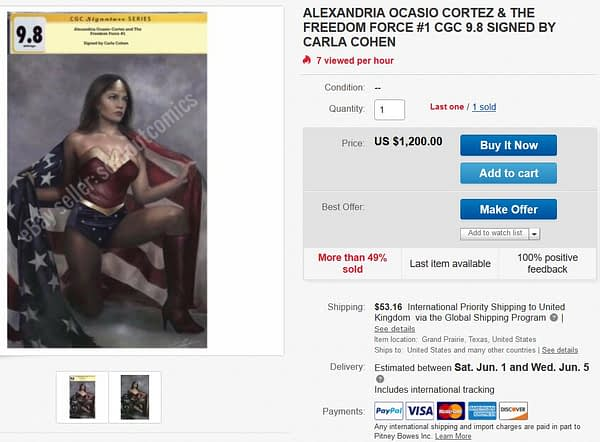 ACO Wonder Woman Variant Is Now a $1000+ Comic
