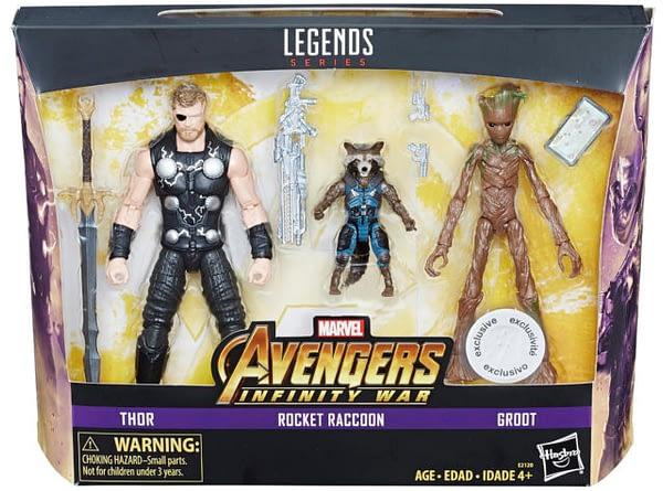 Marvel Legends Infinity War Three Pack TRU