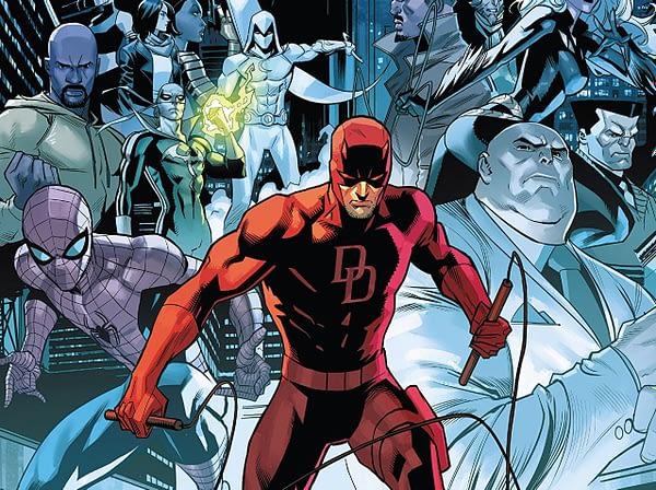 Daredevil #600 cover by Dan Mora and Romulo Fajardo Jr.