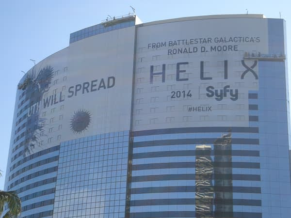 Helix sign goes up