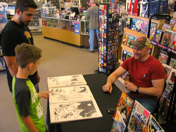 Andy Smith greets fans at a recent signing for Borderlands Comics and Games in Greenville, S.C.