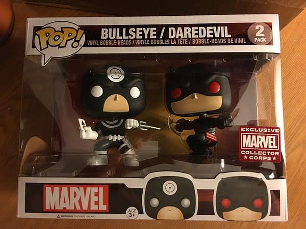 Marvel Collector Corps Superhero Showdown Daredevil vs Bullseye Pop