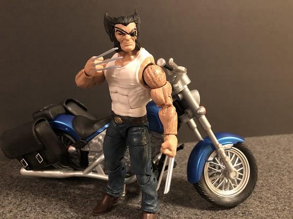 Marvel Legends Wolverine and Bike 13