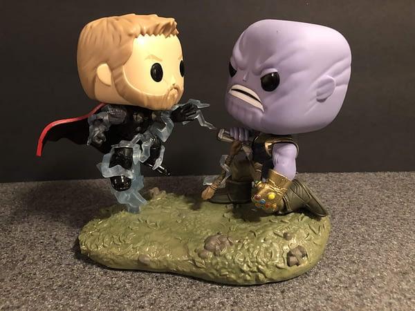 Funko Marvel Infinity War Thor Thanos Movie Moment 1