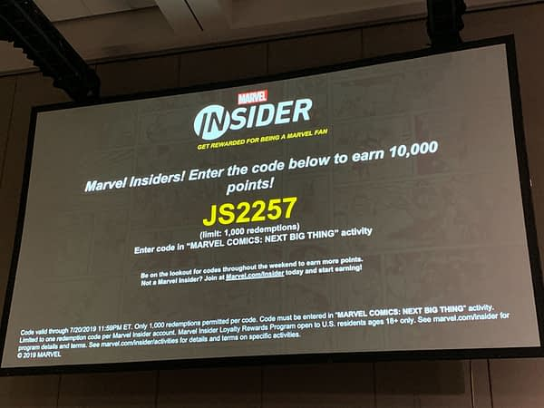 Here's Your Marvel Insider Code From Marvel's Next Big Thing Panel