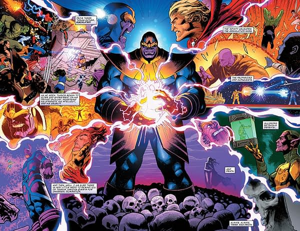 Thanos #14 art by Geoff Shaw and Antonio Fabela