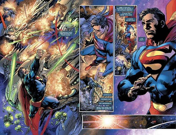 Superman #1 art by Ivan Reis, Joe Prado, and Alex Sinclair