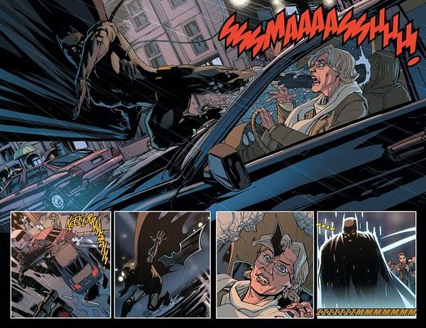 Justice League #36 art by Pete Woods