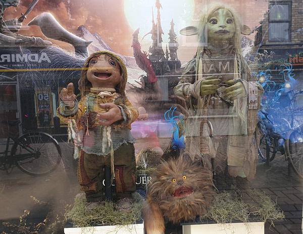 Forbidden Planet Comic Stores in the UK Get Actual Dark Crystal Puppet Window Displays