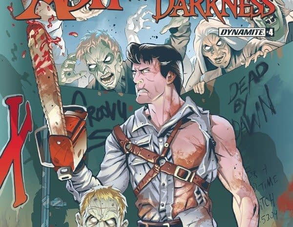 Ash vs Army of Darkness #4 cover by Brent Schoonover