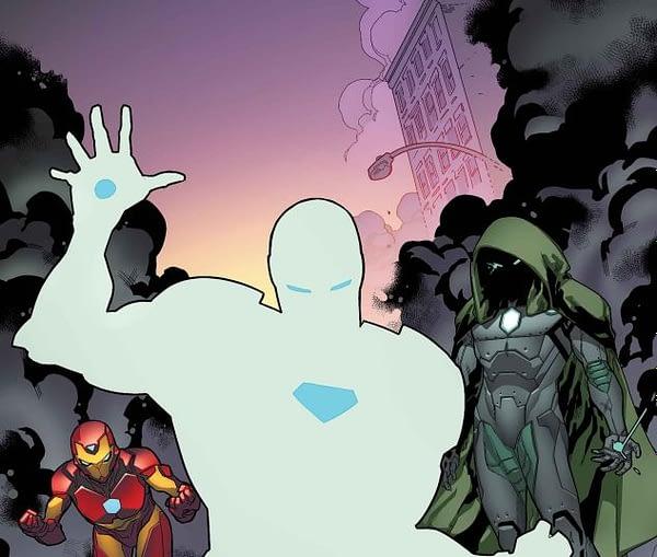 Invincible Iron Man #594 cover by R.B. Silva and Marte Gracia