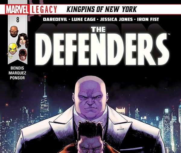Defenders #8 cover by David Marquez and Justin Ponsor