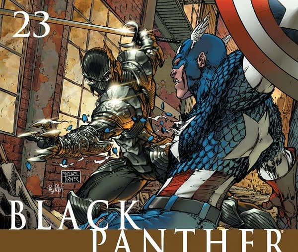 Black Panther #23 cover by Michael Turner