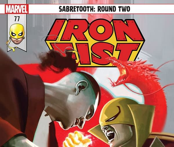 Iron fist #77 cover by Jeff Dekal