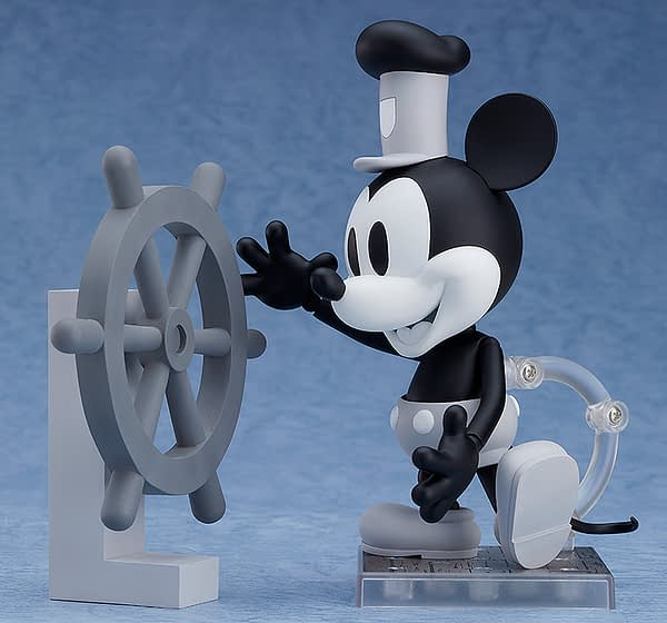 Mickey Mouse Steamboat Willie Nendoroid Figure B&W 3