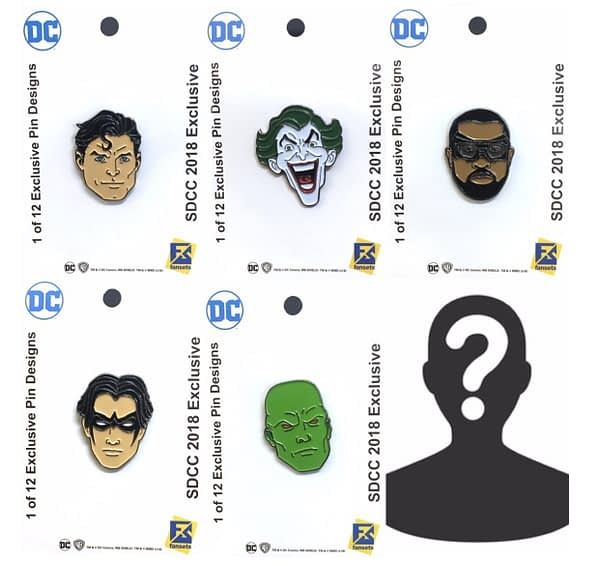 SDCC DC Comics Pins FanSets 2