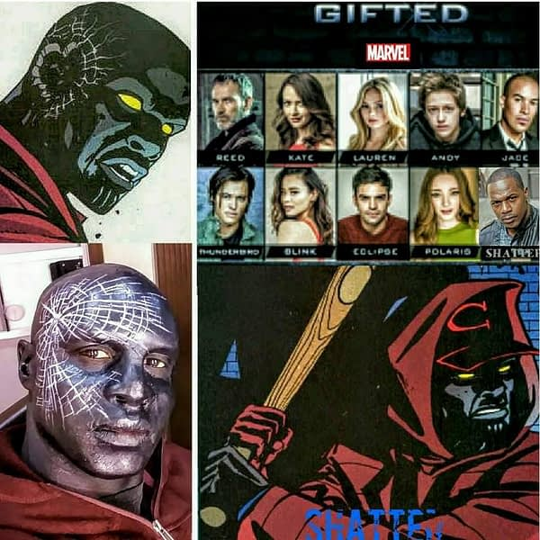 Jermaine Rivers As Shatter In The Gifted