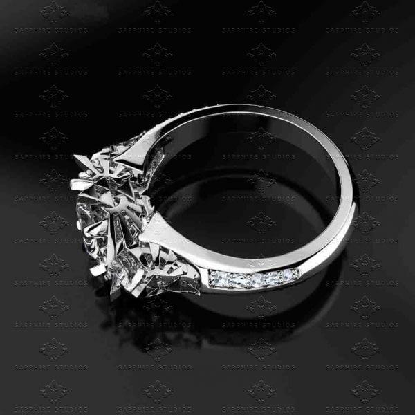 Sacred Trio Sterling Silver Triforce Inspired Zelda Ring