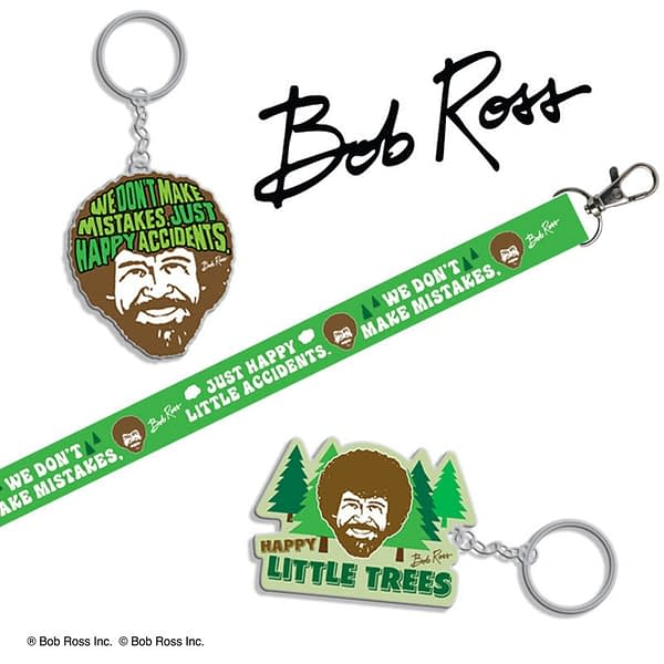 Bob Ross SDCC Keychains Hot Properties