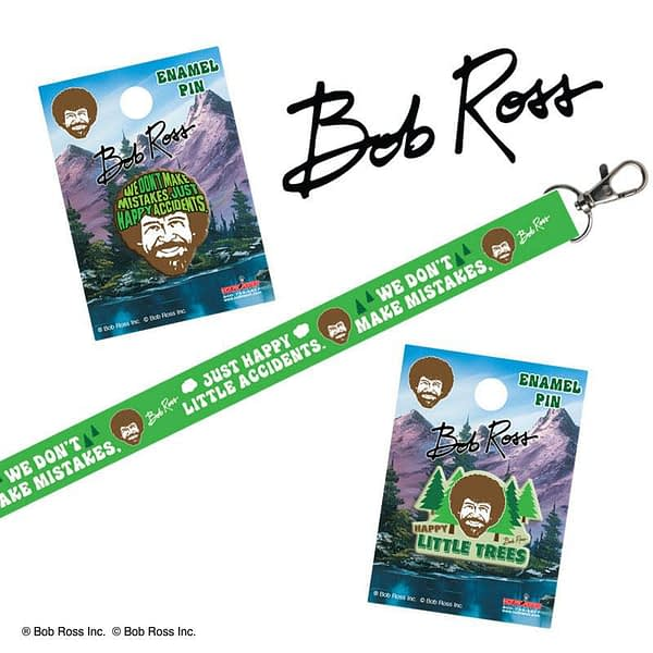 Bob Ross SDCC Pins Hot Properties