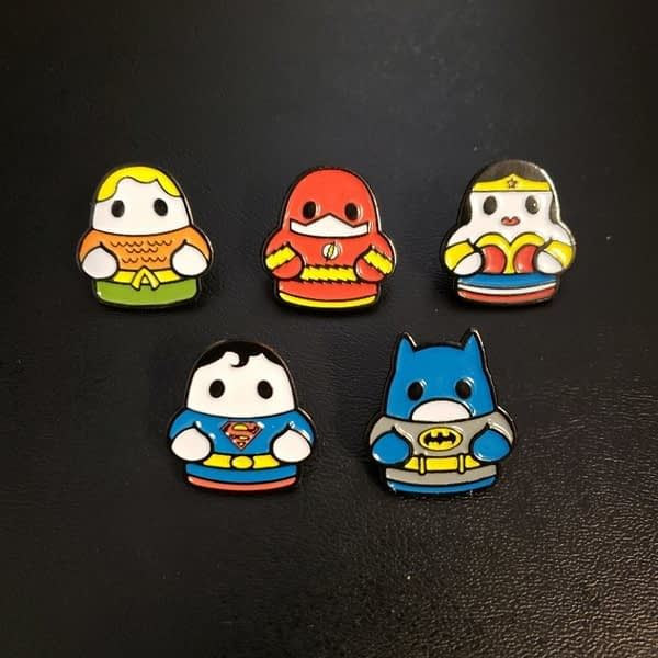 Fugitive Toys SDCC Super Heor TIny Pins