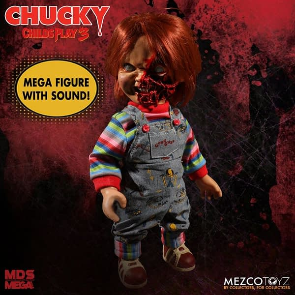 Mezco Toyz Mega Figure Chucky Child's Play 3 1