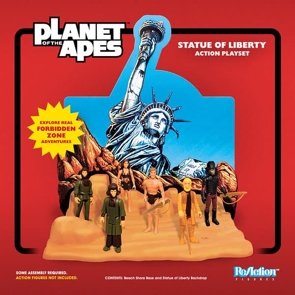 Super7 ReAction Figure Statue of Liberty Playset 2