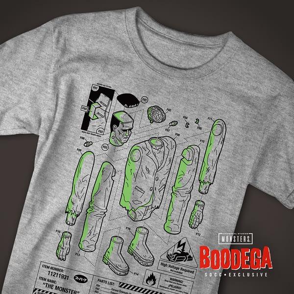 Super7 Universal Monsters Bodega SDCC Shirt 2