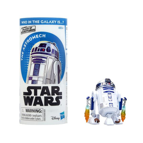 STAR WARS GALAXY OF ADVENTURES R2-D2 Figure and Mini Comic (1)
