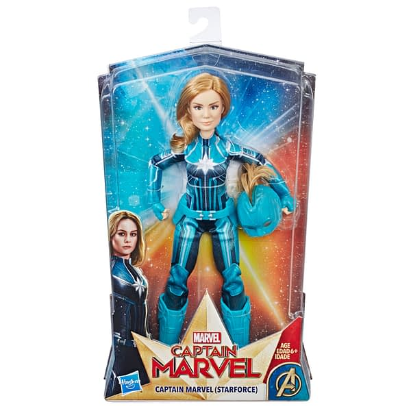 CAPTAIN MARVEL MOVIE CAPTAIN MARVEL (STARFORCE) DOLL WITH HELMET - in pkg