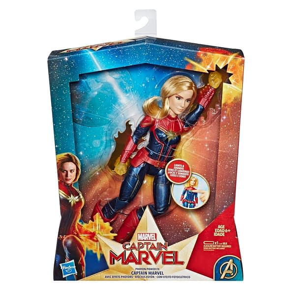 CAPTAIN MARVEL MOVIE PHOTON POWER FX CAPTAIN MARVEL ELECTRONIC DOLL - in pkg