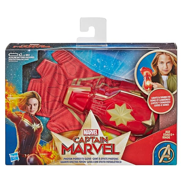 CAPTAIN MARVEL MOVIE PHOTON POWER FX GLOVE - in pkg