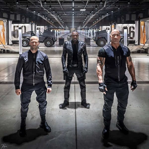 Hobbs and Shaw Jason Statham, Idris Elba, Dwayne Johnson