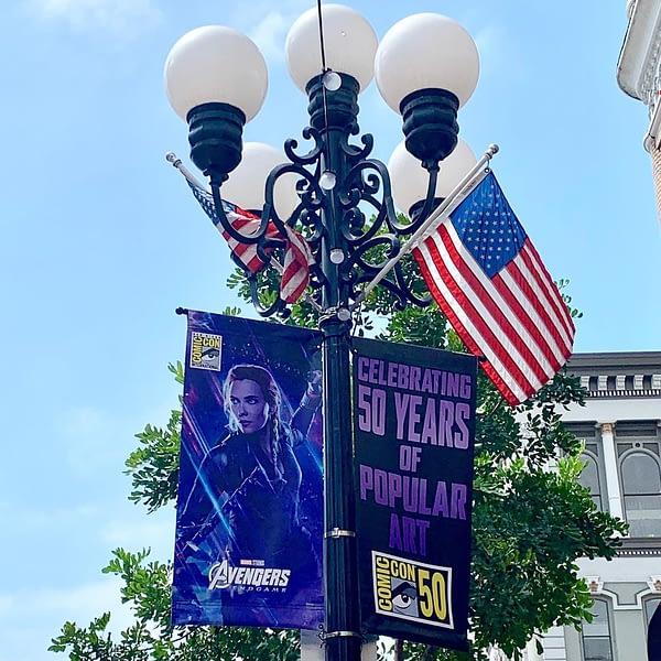 Avengers Endgame Launches San Diego Comic-Con Street Furniture