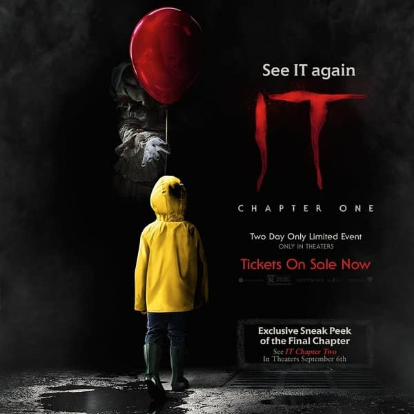 """""""It"""" Returns to Theaters to Include 8 Minute Sneak Peak at """"It: Chapter Two"""""""